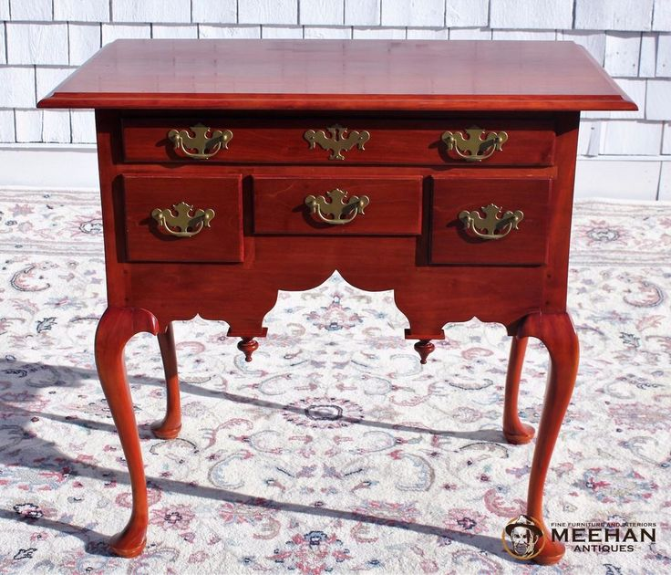 Bench Made Reproduction Queen Anne Cherry Lowboy or Dressing Table #QueenAnne #ScottFerrazzani