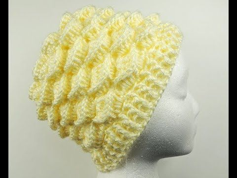 Crochet  Gorro en Relieve   2 - YouTube  28423852487