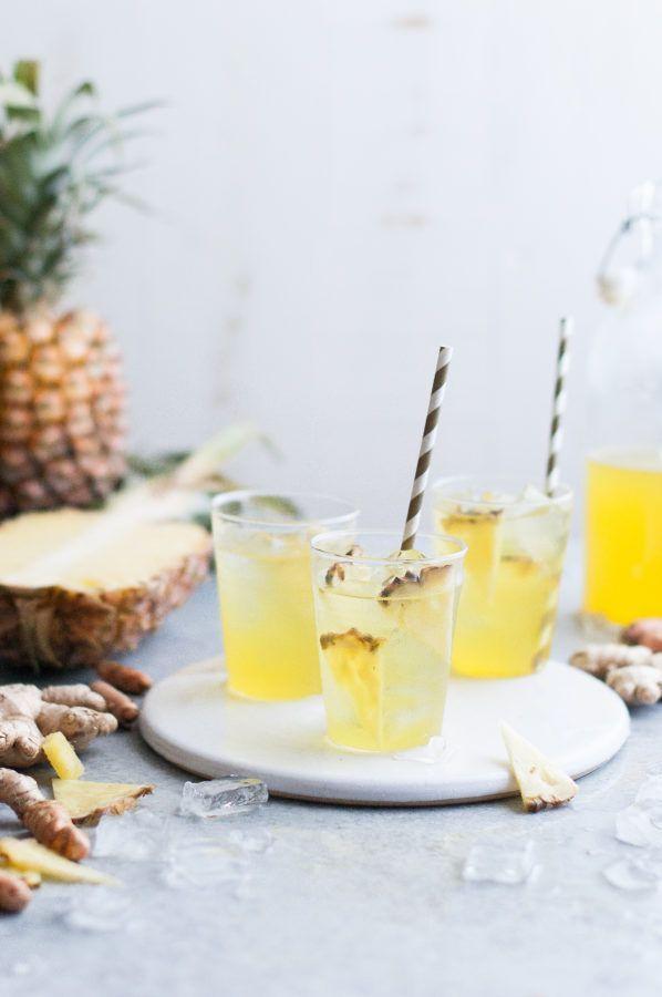 Pineapple Ginger Iced Tea - The Kitchen McCabe