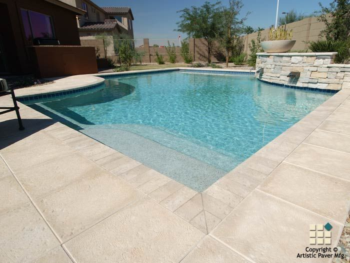 Artistic pavers photo gallery of pool decks driveways for Best pavers for pool deck