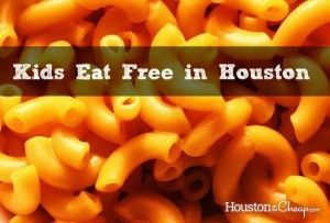 Where kids can eat for FREE each day of the week in #Houston