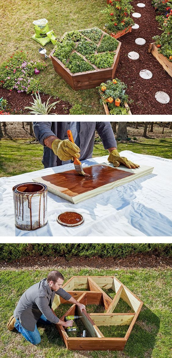 Build a DIY hexagon-shaped planter for a beautiful and unique raised garden bed.