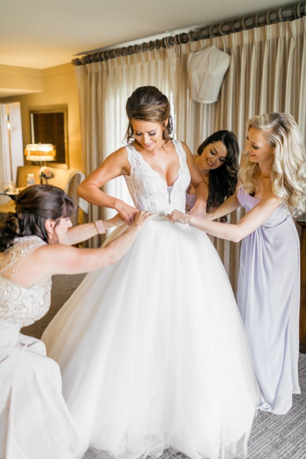 Where does a former Miss USA go dress shopping for her wedding day? At Kleinfeld's on Say Yes To the Dress, of course. She chose a convertible Pnina Tornai for a traditional ballgown look at the ceremony turned curve hugging silhouette at the reception and