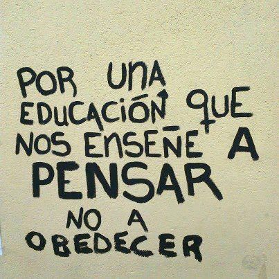Por una educación...
