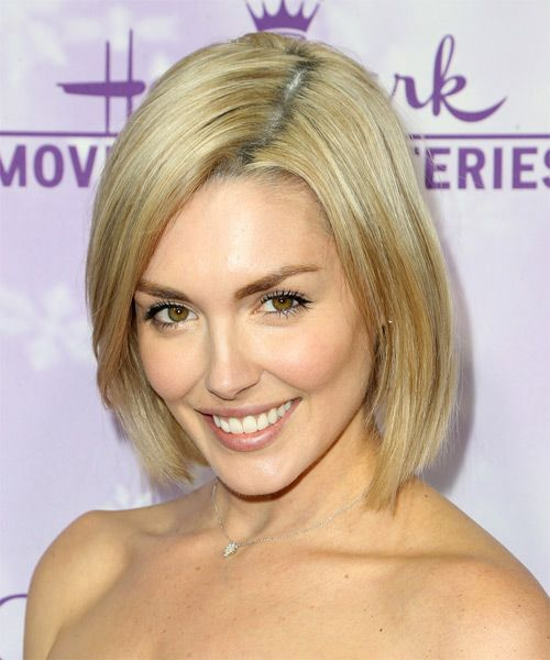Taylor Cole Bob Hairstyle - Medium Straight Casual - Medium Blonde