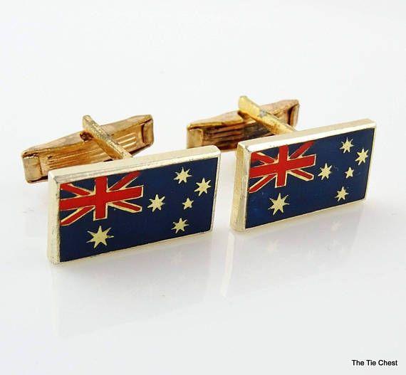 Vintage Australian Flag Cufflinks #thetiechest  #cufflinks