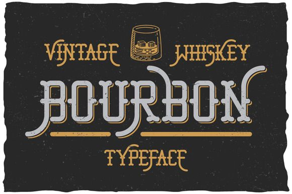 Bourbon Whiskey Typeface by Vozzy on @creativemarket