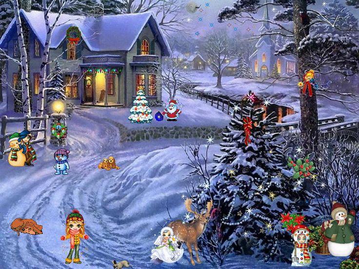 Free Animated Christmas Screensavers | Christmas Screensaver - Christmas Paradise - FullScreensavers.com