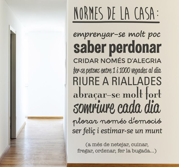 Vinilo català normes casa