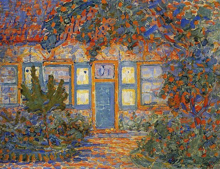 Piet Mondrian (1872-1944) - Little House in Sunlight, 1909-10, oil on canvas, Gemeentemuseum, The Hague, Netherlands