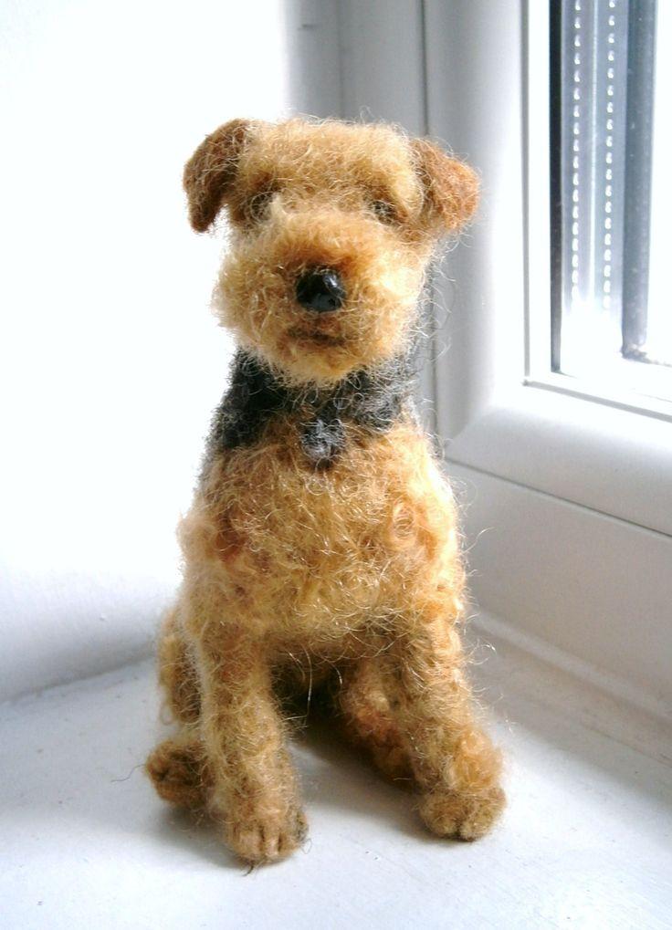 Custom Dog Sculpture /Needle Felted/ Pet Sculpture by FeltedFido.  via Etsy. Genius!!
