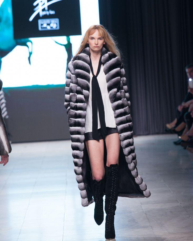 Make a fashion statement with our chinchilla fur coat.