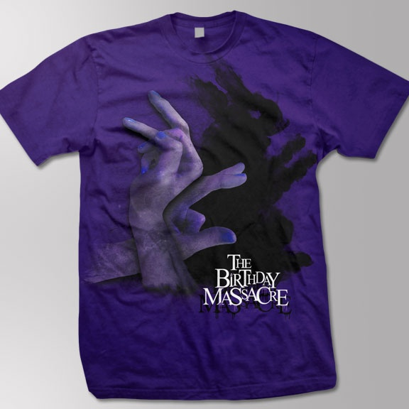 THE BIRTHDAY MASSACRE -Shadow Puppet- T-Shirt - Purple: Fine Jersey, Massacre T Shirts,  T-Shirt, Massacre Tshirt, Shadows Puppets, Jersey Cotton, Birthday Massacre, Massacre Shadows, Purple Xl