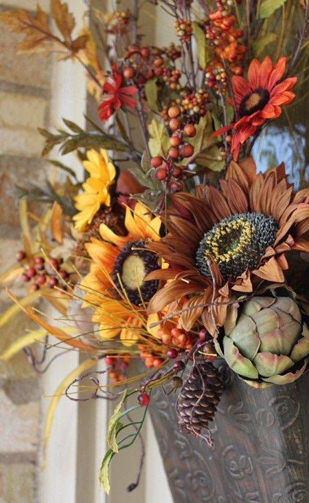 Front door basket by Shar4Hoos & 18 best Front Door Baskets images on Pinterest   Front doors Fall ... pezcame.com