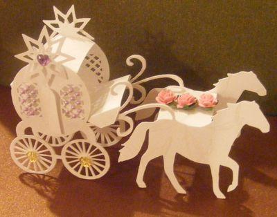 Craft Robo Gsd File Template 3d Miniature Horse & Carraige