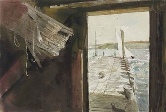 Hand Lines Study By Andrew Wyeth ,1997