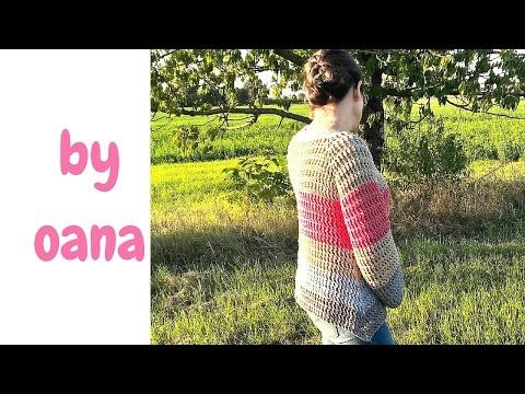 crochet top down pullover - YouTube link to the stitch she uses https://youtu.be/-WlwW8xkAY4