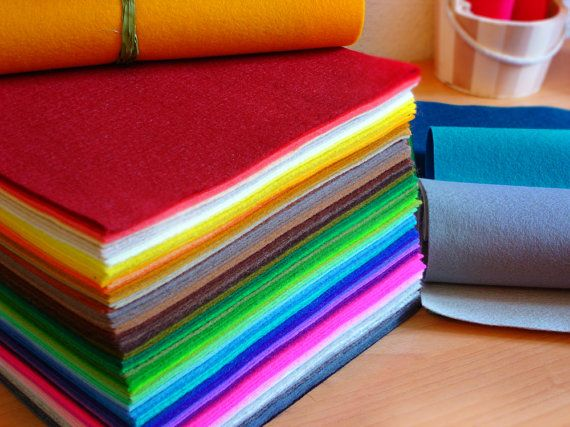 Irisfelt The Collection 63 wool felt pieces15x20cm  by irisfelt