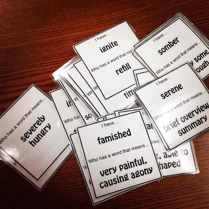 Vocabulary Loop Game for Middle School Students Grades 7-9