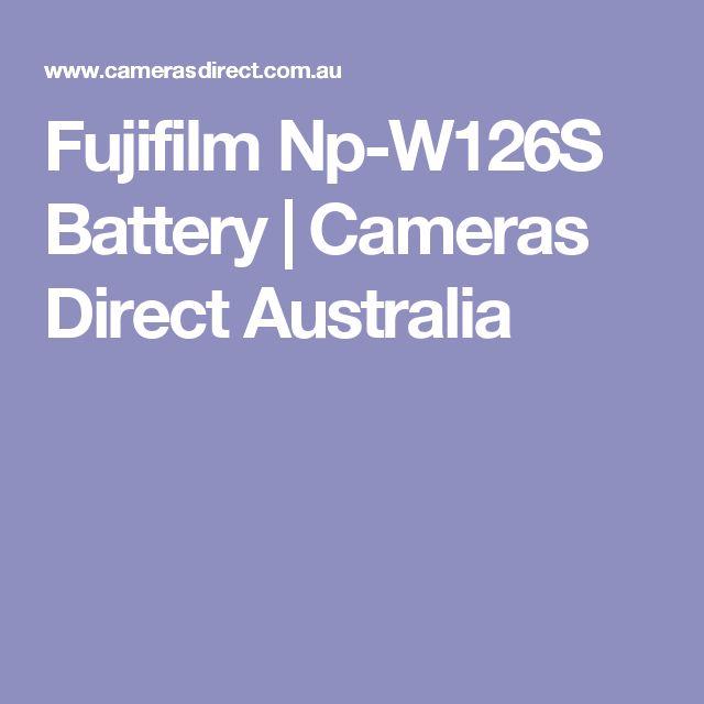 Fujifilm Np-W126S Battery | Cameras Direct Australia