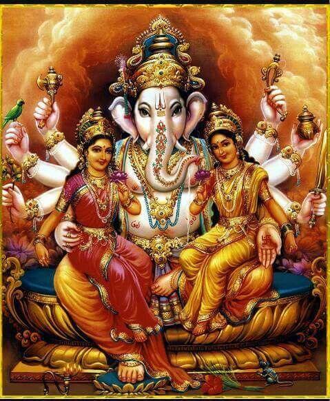 Riddhi Siddhi and Ganesha