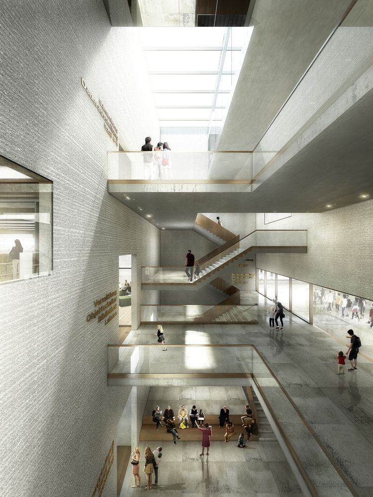 Image 5 of 21. Staircase hall Museum of Natural History Basel. Image © EM2N; Render by Luxigon
