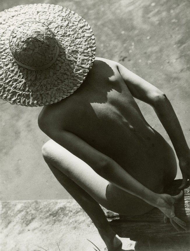 Nude in Straw Hat, Martin Munkácsi, 1944 Silver gelatin print, 1994, from original negative 35.5 x 27.5 cm Hungarian Museum of Photography, Kecskemét