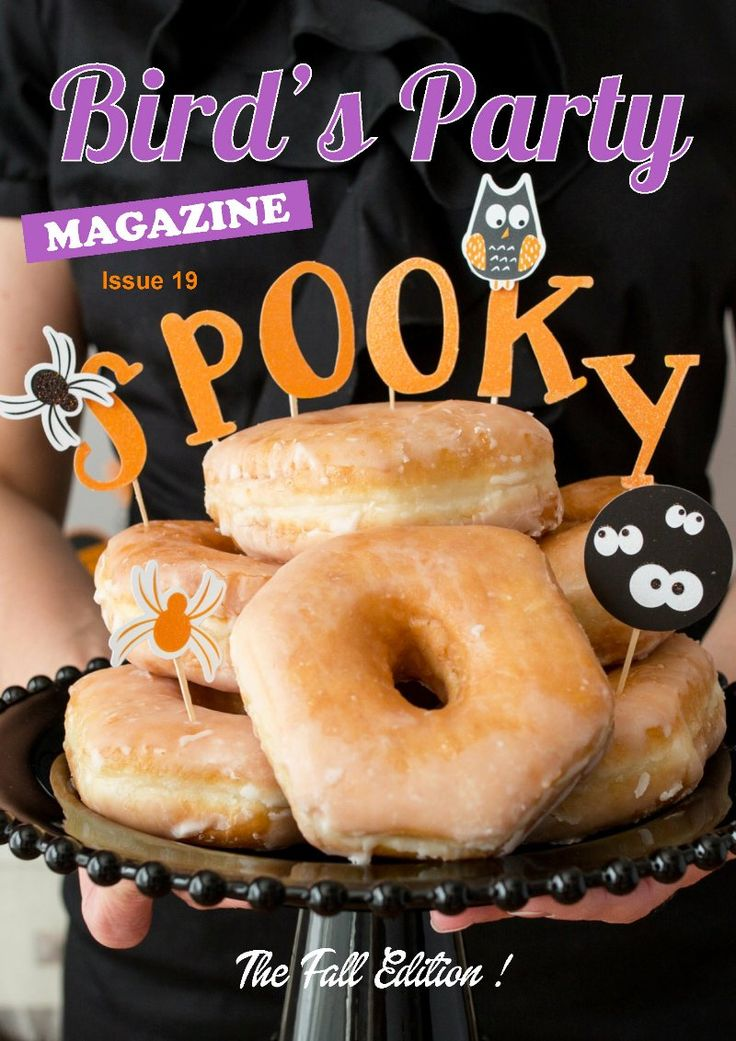 Bird's Party Magazine | Fall Edition 2017 is packed with ideas for birthdays, Halloween, Thanksgiving and autumn celebrations, recipes, DIYs and crafts! by BirdsParty.com @birdsparty