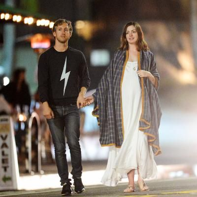 Hot: Pregnant Anne Hathaway Goes Boho Chic on Casual Date Night with Husband Adam Schulman