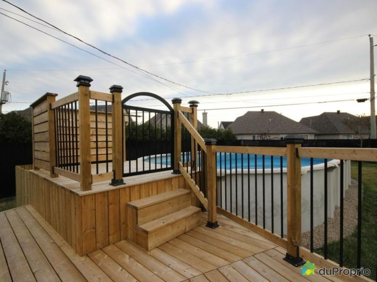 Construire patio piscine hors terre recherche google patio piscine - Construire un gazebo ...