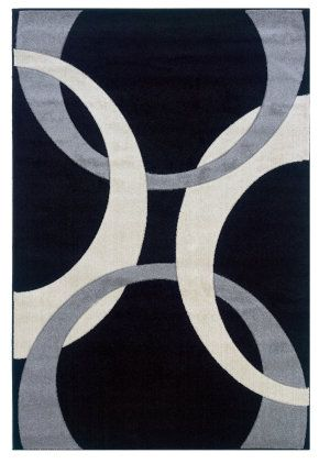 Linon Corfu Cu03 Black / Grey Area Rug