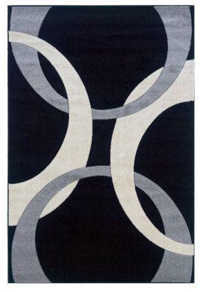 Linon Corfu Cu03 Black / Grey Area Rug