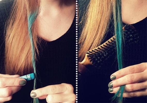 capelli punte colorate..basta un pastello!
