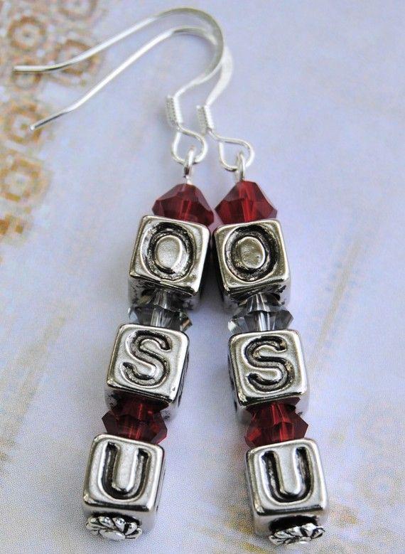 OSU Earrings  Ohio State Jewelry  Go Buckeyes  by AutismLoveHope