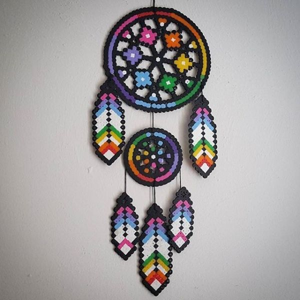 Dreamcatcher perler beads by staywithme_arienette by lorie
