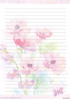 This site has a ton of free printable stationery with matching envelopes!