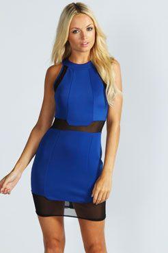 Courtney Mesh Insert Bodycon Dress >> http://www.boohoo.com/restofworld/collections/future-sport/icat/future-sport/going-out-dresses/courtney-mesh-insert-bodycon-dress/invt/azz43371 #boohoo #aw13 #futuresports