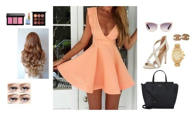 """""""Beyond ready for the summer"""" by velszoe ❤ liked on Polyvore featuring BCBGMAXAZRIA, Kate Spade, Tom Ford, Chanel, Michael Kors, MAC Cosmetics and Bobbi Brown Cosmetics"""
