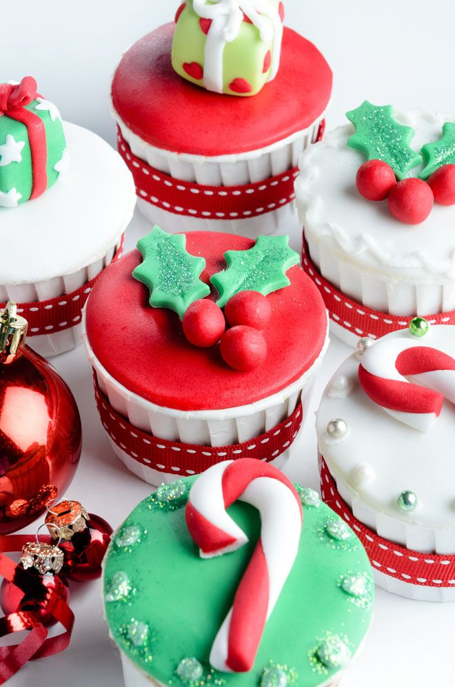 Best 20+ Christmas cupcakes decoration ideas on Pinterest ...