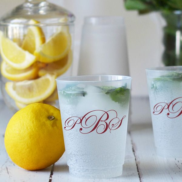 Serve up your custom wedding drink in style with these personalized frosted cups. Not only are they a great decoration but make even better wedding favors, durable enough to withstand years of use. Find your custom cups here: http://myweddingreceptionideas.com/10_oz_personalized_frosted_plastic_cups.asp