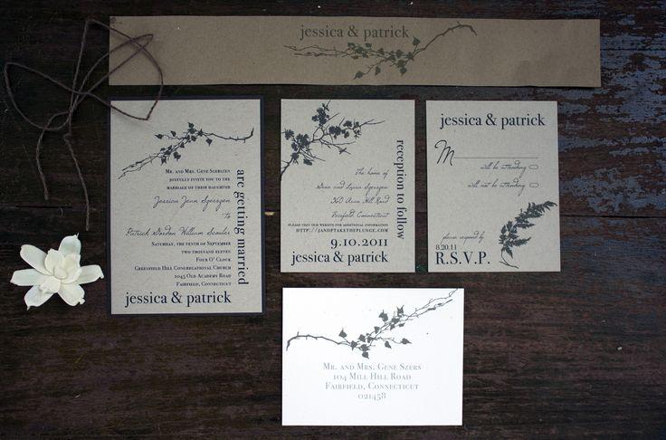 #ivoryromance - Rustic Wedding Invitations, Rustic Wedding Invitation, Rustic Wedding Invites #beaconlane