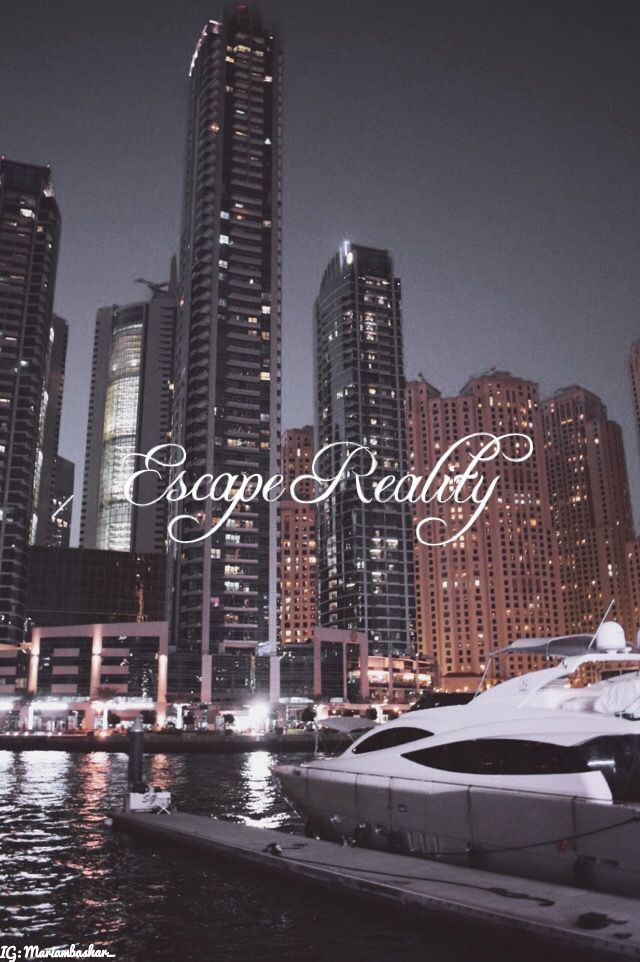 Escape Reality 🎭  #Dubai #Quote #Pretty