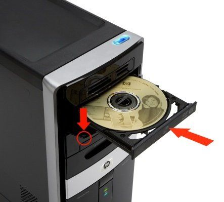 Empujar la bandeja del CD con la mano para insertarlo es dañino  Este mito es: Falso. Nada sucede mientras se lo empuje con una fuerza normal, está hecho para eso.