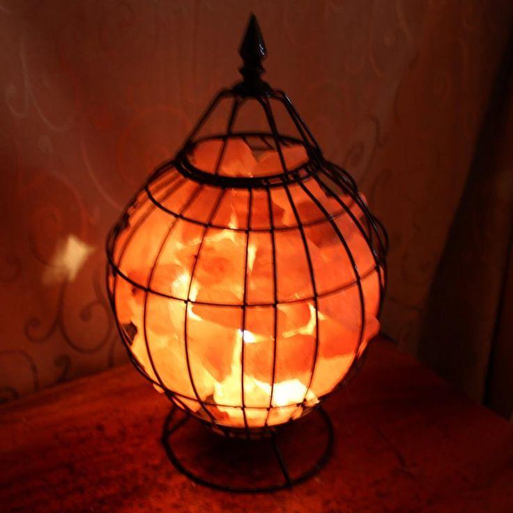 Taj Mahal Fire Cage - Himalayan salt lamp