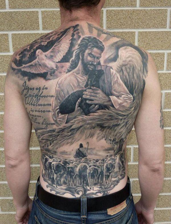 Jesus Shepherd tattoo - 35 Inspiring Religious Tattoos | Cuded