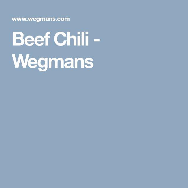 Beef Chili - Wegmans