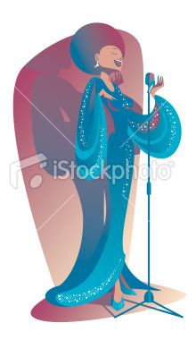 Blues singer Royalty Free Stock Vector Art Illustration