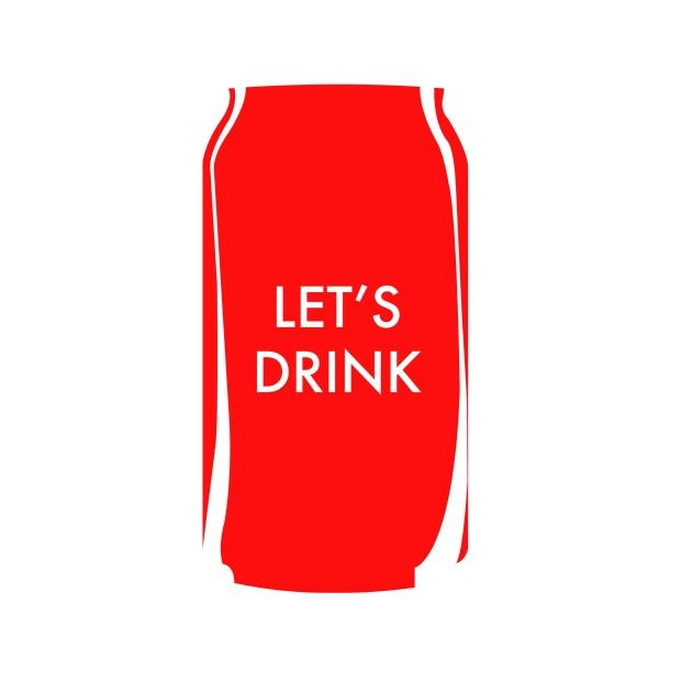 Flatart CocaCola Can - Let's drink!