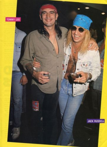 TOMMY-LEE-JACK-RUSSELL-PINUP-CLIPPING-90s-Motley-Crue ...
