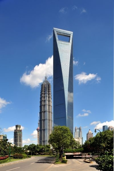 She's a beauty!  Shanghai World Financial Centre.